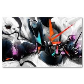 Αφίσα (αφηρημένο, πολύχρωμο, σχήματα, γραμμές, σπρέι, βούρτσα)